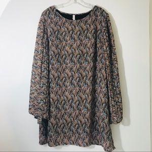 Xhilaration Womens XXL long pleated Flowing Dress